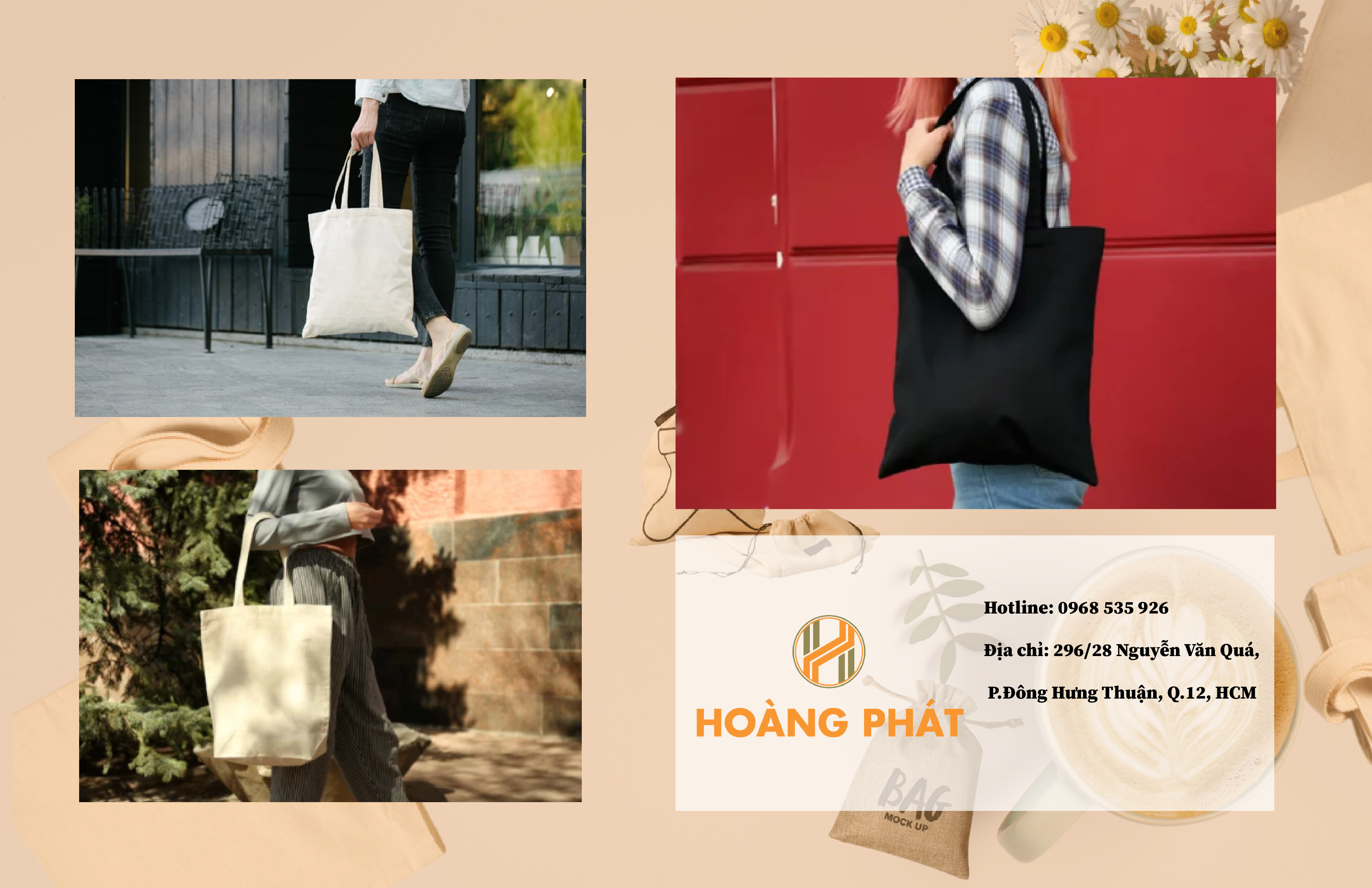 Hoàng Phát luôn đồng hành cùng học sinh với những mẫu túi vải chất lượng